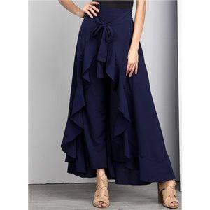 Reborn chiffon blue skirt pent